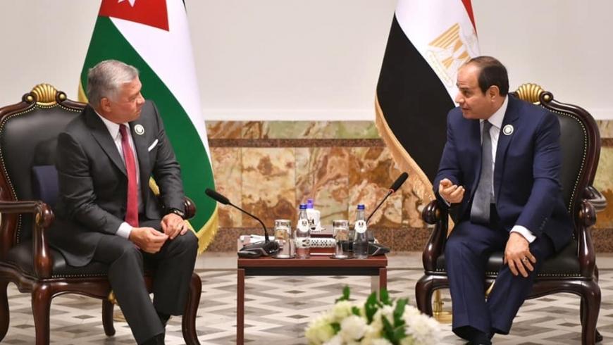 الرئيس المصري وملك الأردن