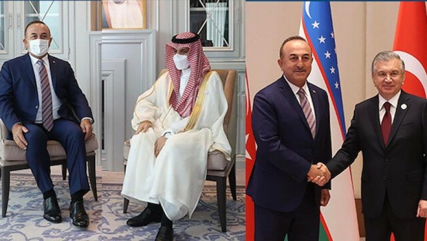 جاويش أوغلو يتلقي نظيره الكويتي ونائب رئيس وزراء أذربيجان