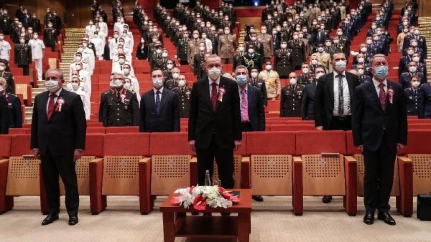 أردوغان في حفل تخريج طلبة جامعة الدفاع الوطني