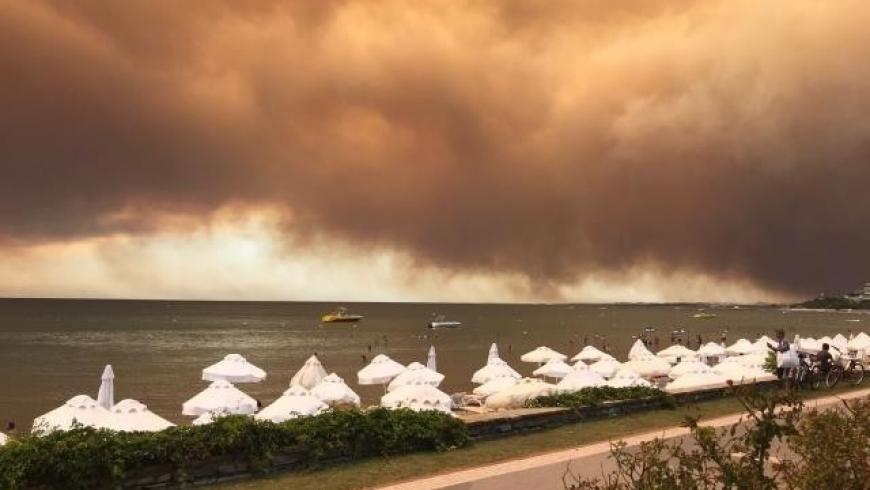 الحرائق في غابات أنطاليا