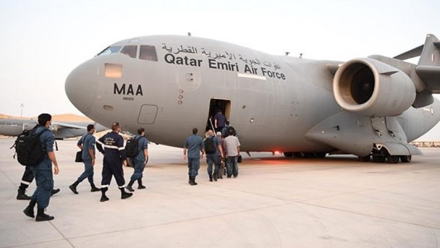فرق إنقاذ قطرية
