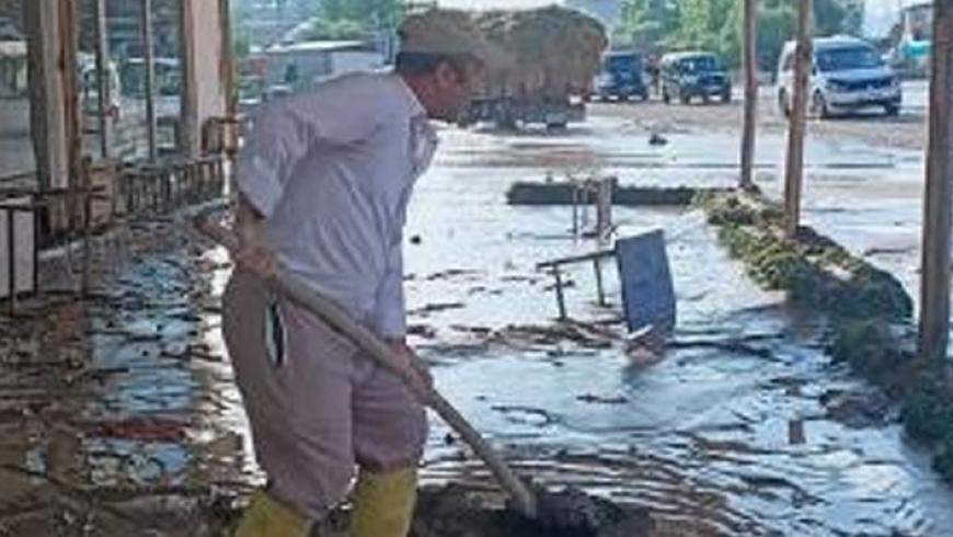 فيضان في مدينة فان التركية
