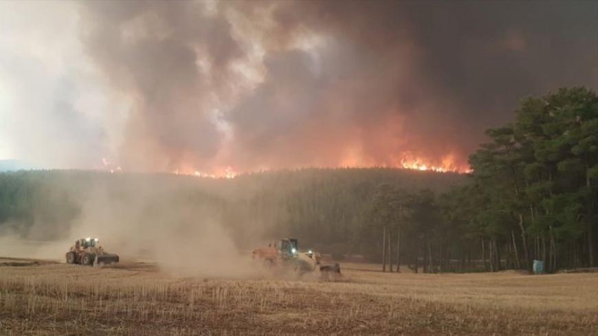 حريق بمدينة موغلا التركية