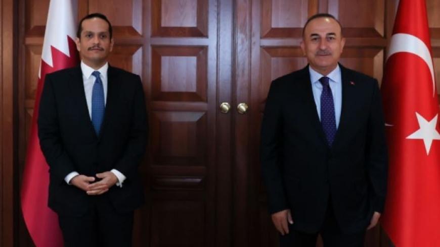 وزيرا خارجية قطر وتركيا