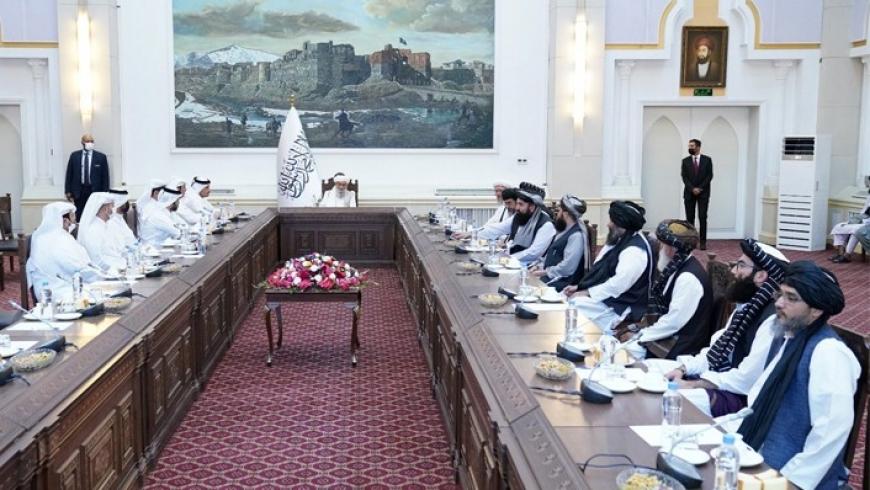 وفد الخارجية القطرية في كابول