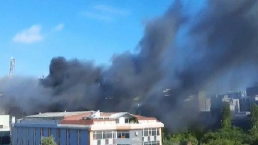 حريق بمدينة إسطنبول