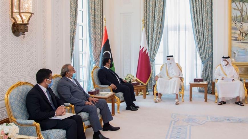 أمير قطر يستقبل رئيس المجلس الرئاسي الليبي
