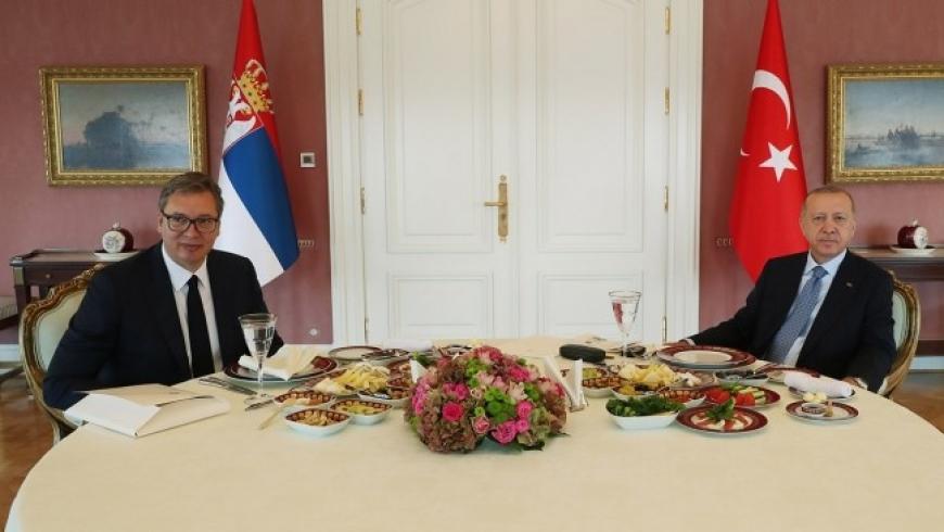 أردوغان ونظيره الصربي