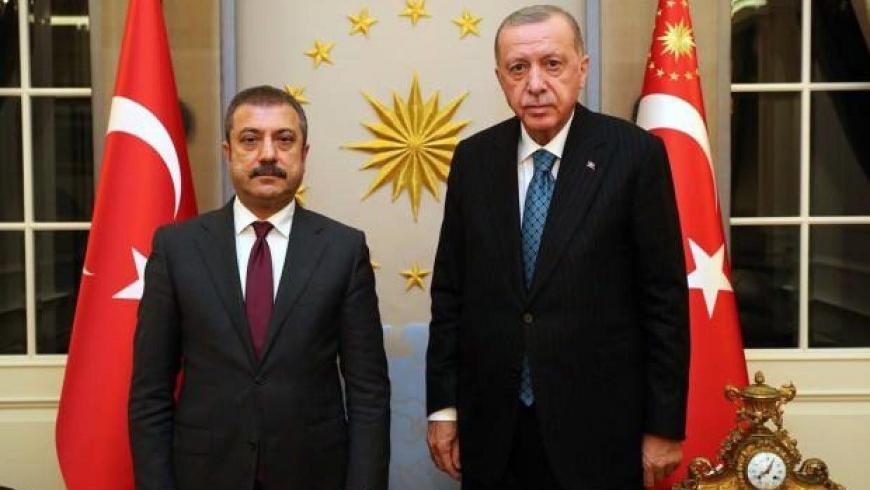 أردوغان ورئيس البنك المركزي التركي