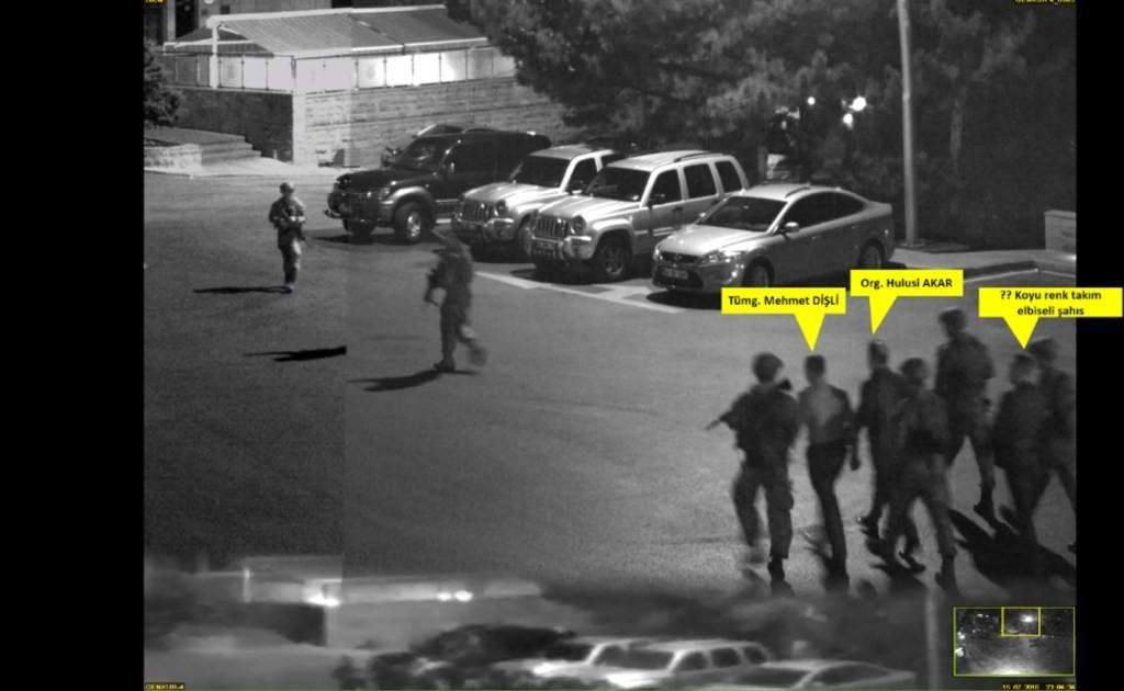 تسجيلات الكاميرا والتي ادعي خلصي اكار أنه كان تحت التهديد