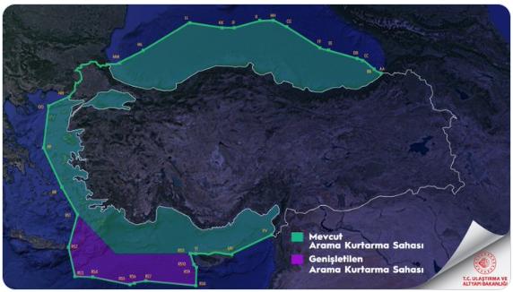 خريطة الوطن الأزرق التركي
