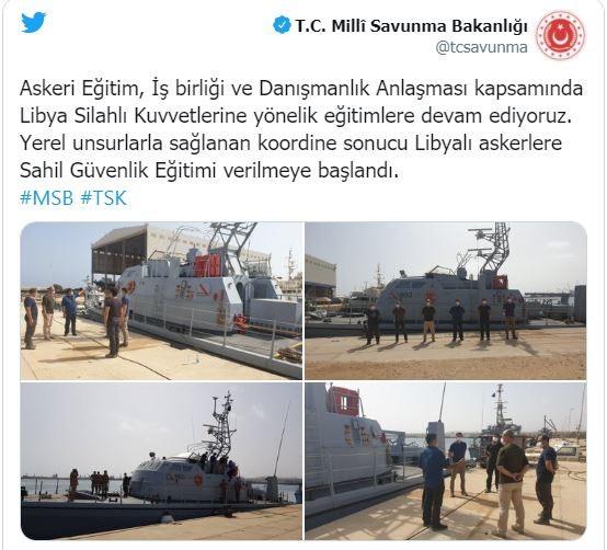تغريدة وزارة الدفاع التركية
