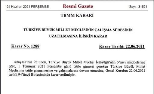 الجريدة الرسمية التركية