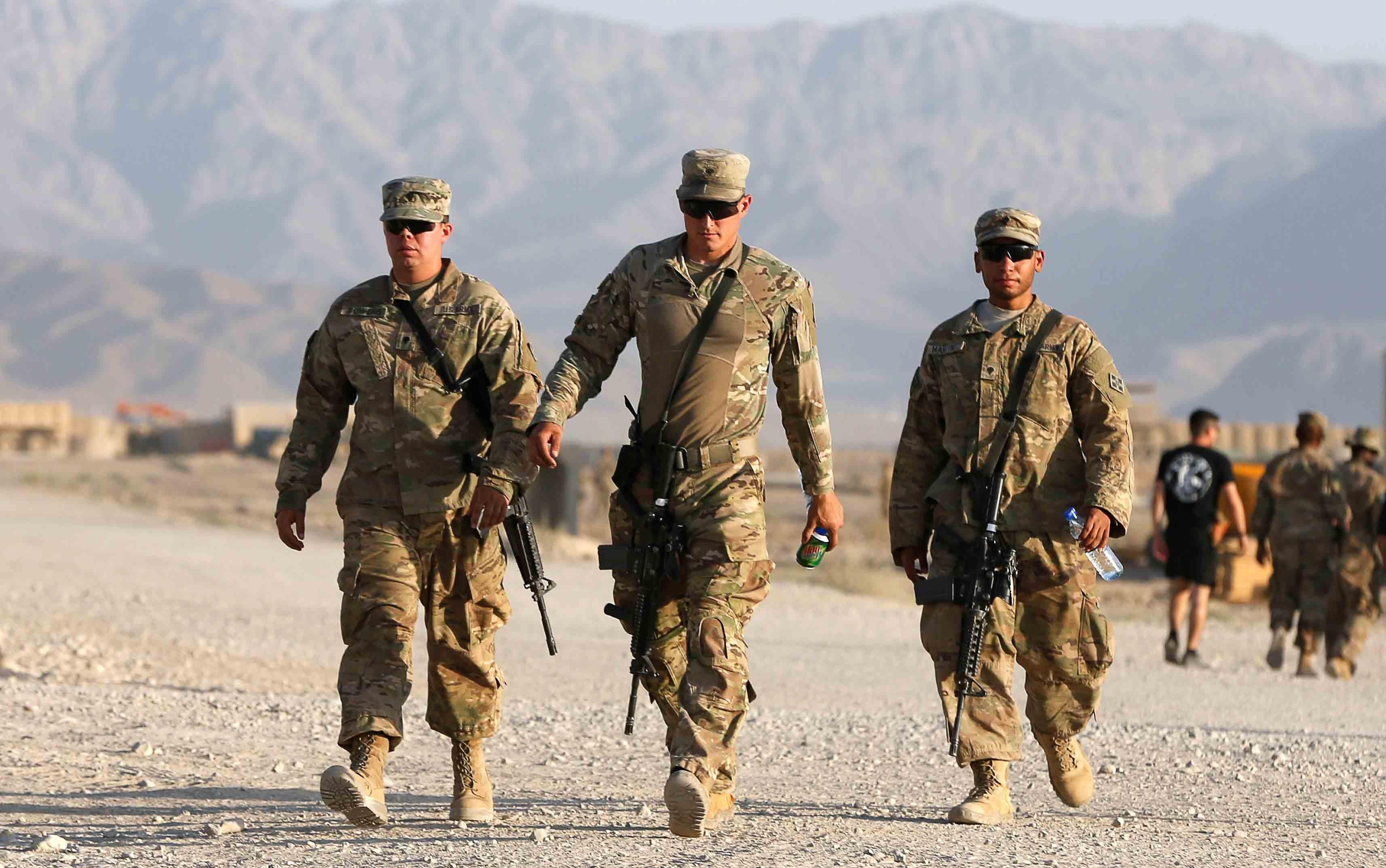 جنود أمريكا بأفغانستان