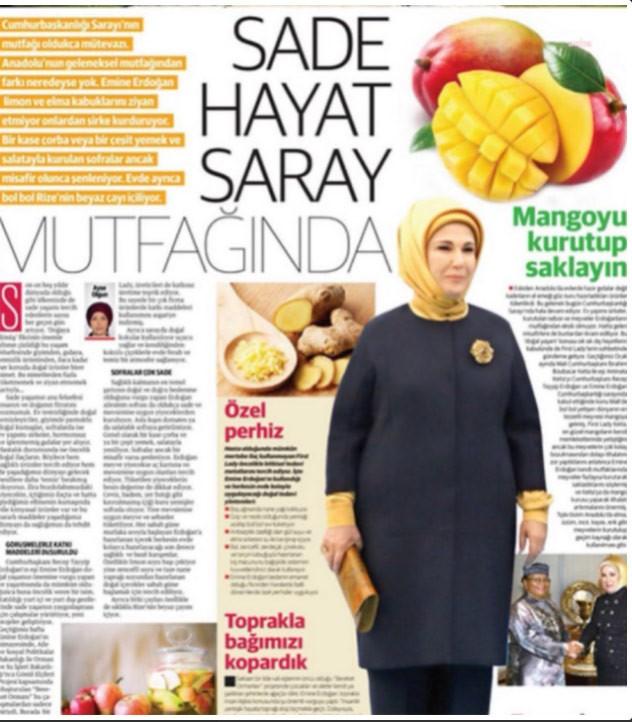 صورة من لقاء أمينة أردوغان بالمجلة
